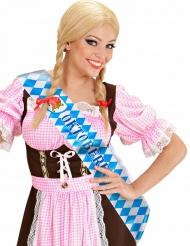 Oktoberfest Schärpe für Damen blau-weiss