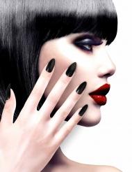 Künstliche Fingernägel mit Klebstoff schwarz