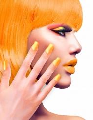 Künstliche Fingernägel mit Klebstoff orange