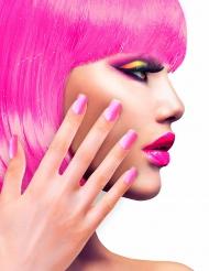 Künstliche Fingernägel mit Klebstoff rosa