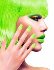 Künstliche Fingernägel mit Klebstoff grün