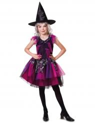 Halloween Hexen-Kostüm für Mädchen pink-schwarz