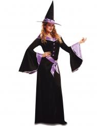 Hexen-Kostüm für Damen Halloween-Verkleidung schwarz-lila