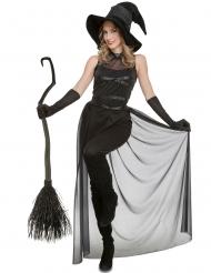 Stilvolles Hexenkostüm sexy Verkleidung für Damen schwarz