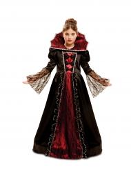 Barock-Vampirin Kostüm für Mädchen Halloween schwarz-rot