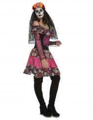 Dia de los Muertos-Damenkostüm Halloween-Kleid bunt