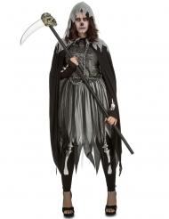 Sensenmann-Kostüm für Damen grau-schwarz