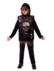 Spielkarten-Skelett-Kostüm für Kinder Halloween schwarz-braun
