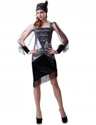 30er-Jahre-Kostüm für Damen silber