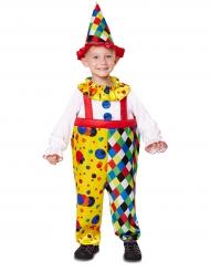 Lustiges Clownkostüm für Kinder Zirkus bunt