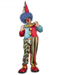 Clown-Overall für Kinder Zirkuskostüm bunt