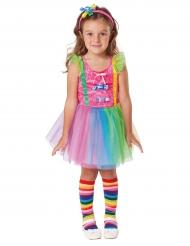 Clown-Kinderkostüm mit Süßigkeitenmotiv