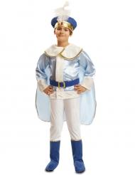 Märchen-Prinz Kinderkostüm für Jungen blau-weiss