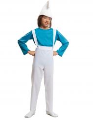 Blauer Zwerg Kinder-Kostüm blau-weiß