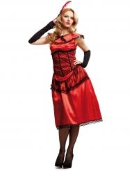 Kostüm Kabarett Kostüm in Rot für Damen