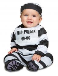 Straeflings-Kostuem fuer Babys Gefangener schwarz-weiss