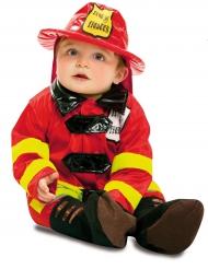 Süsses Feuerwehrmann Baby-Kostümrot-gelb-schwarz