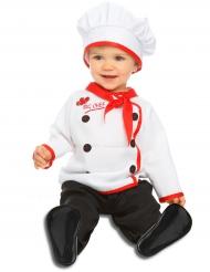 Koch Kostüm für Babys weiss-rot