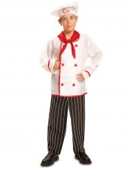 Koch Kinder-Kostüm weiß-rot-schwarz