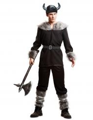 Männer-kostüm starker Wikinger in schwarz