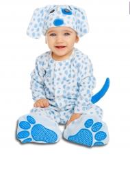 Hunde-Kostüm für Babys Hundebaby weiss-blau
