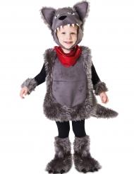 Kleiner Wolf Kinderkostüm für Jungen grau