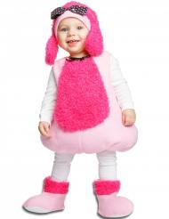Pudel Hundekostüm für Kinder rosa-pink