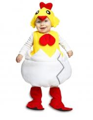 Süsses Küken Baby-Kostüm weiss-rot