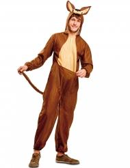 Kängurukostüm für Erwachsene bunt