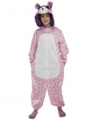 Bärenkostüm rosa für Kinder