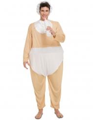 Lustiges Baby Kostüm für Erwachsene