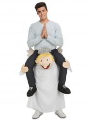 Engel Carry-me Weihnachtskostüm für Erwachsene bunt
