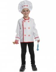 Chefkoch Kinder-Kostüm weiß-rot