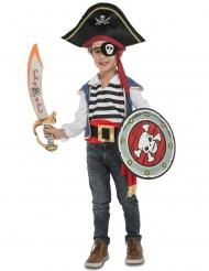 Freches Piratenkostüm mit Zubehör für Kinder bunt
