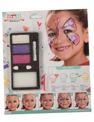 Schmetterling Make-up für Mädchen bunt