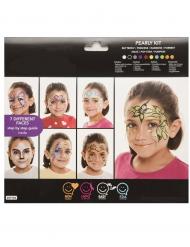 Make-up Kinderschmink-Set 7 verschiedene Motive bunt