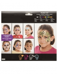 Make-up Kinderschmink-Set 7 verschiedene Motive bunt