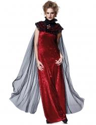 Cape mit gotischem Kragen Zubehör für Damen schwarz