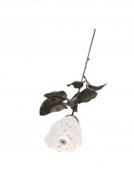 Rose mit Auge Halloween-Zubehör schwarz-weiss-rot
