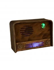Blinkendes Radio mit Sound Halloween-Deko braun 31 x 11 cm