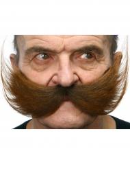 Schnurrbart für Herren braun
