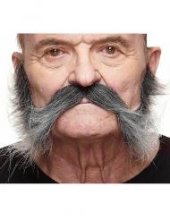 Schnurrbart für Herren grau