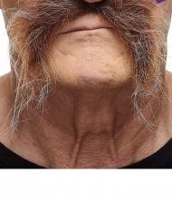 Schnurrbart für Herren braun-grau