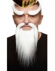 Chinesisches Bart-Zubehör für Erwachsene weiss