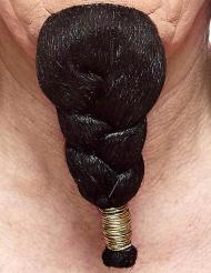Geflochtener Bart für Herren schwarz