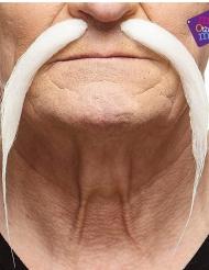 Chinesen Schnurrbart für Herren weiss
