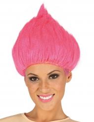Troll Perücke für Erwachsene rosa