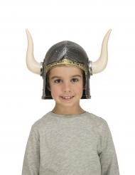 Wikingerhelm mit Hörnern für Kinder