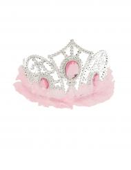 Prinzessinnen Diadem mit Tüll rosa