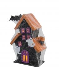 Spukhaus Dekoration mit Licht für Halloween bunt 30cm